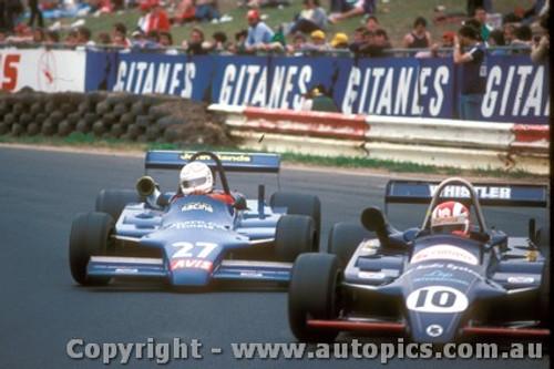 83518 - A. Berg & A. Jones Ralt RT4  - Australian Grand Prix  Calder 1983