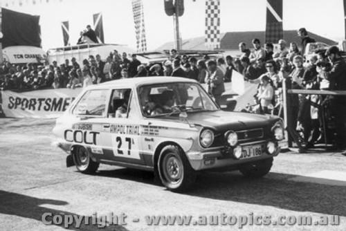 70961 - D. Chivas and R. Riley -  Mitsubishi Colt - Ampol Trial 1970