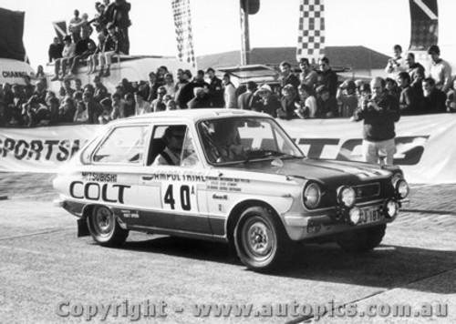 70963 - D. Stewart and G. Shepherd -  Mitsubishi Colt - Ampol Trial 1970