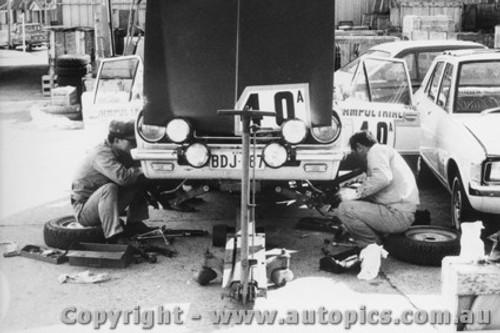 70964 - D. Stewart and G. Shepherd -  Mitsubishi Colt - Ampol Trial 1970