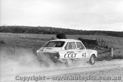 70965 - D. Stewart and G. Shepherd -  Mitsubishi Colt - Ampol Trial 1970