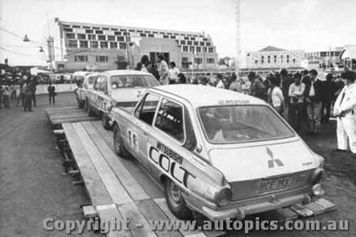 70968 - B. LLoyd and A .Browne -  Mitsubishi Colt - Ampol Trial 1970