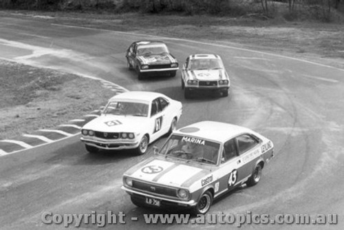 75033 - N. Byers  Leyland Marina / N. Sakno Mazda - Amaroo Park  30th March 1975