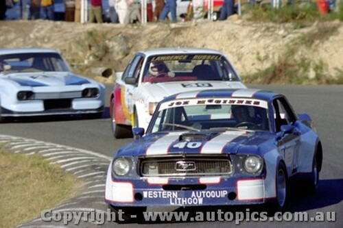 82021 - Joe McGinnes Ford Mustang  / Barrie Lawrence Torana V8 / Laurie Hazelton Ford Capri V8 - Amaroo Park 23rd May 1982 - Photographer Lance  Ruting.