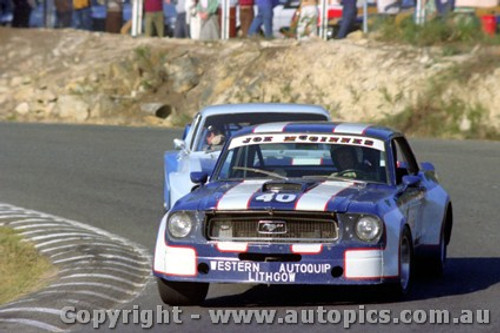 82024 - Joe McGinnes Ford Mustang / Laurie Hazelton Ford Capri V8 - Amaroo Park 23rd May 1982 - Photographer Lance  Ruting.