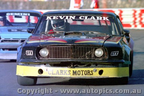 84037 - Kevin Clark Ford Mustang - Amaroo Park 8th July 1984 - Photographer Lance  Ruting.