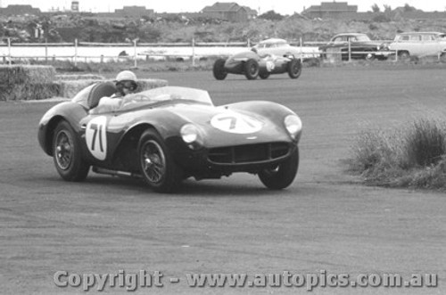 58430 - David McKay Aston Martin - Phillip Island  22nd February 1958 - Photographer Peter D Abbs