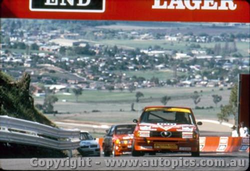 87773 - Giorgio Francia / Daniele Toppoli Alfa Romeo 33 - Bathurst 1987 - Photographer Lance Ruting