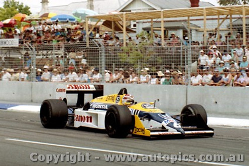 87505 - Nelson Piquet  Williams FW 11E  - AGP Adelaide 1987 - Photographer Darren House