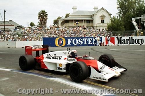 87506 - Alain Prostt McLaren MP4/3  - AGP Adelaide 1987 - Photographer Darren House