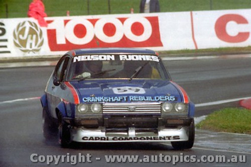 83760 - L. Nelson / P. Jones  Ford Capri - Bathurst 1983 - Photographer Lance J Ruting