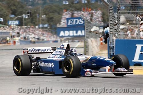95503 - Damon Hilll - Williams - Australian Grand Prix - Adelaide 1995 - Photographer Darren House