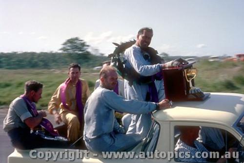64531 -  Jack Brabham Victory Lap Tasman Series  - Lakeside 1964 - Photographer John Stanley