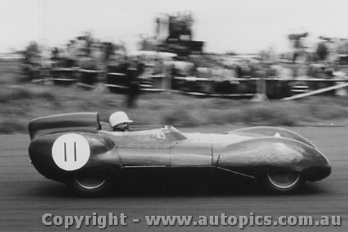 58442 - D. Swanton - Lotus 11 - Fishermen s Bend - 18th October 1958 - Photographer Peter D Abbs