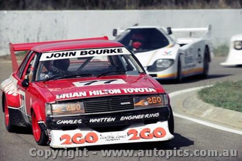 85415 - John Bourke Toyota Cellica - Oran Park 5th May 1985 - Photographer Lance J Ruting