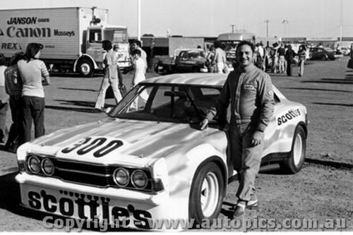 75045 - Pat Crea - Ford Cortina V8 - Calder 1975 - Photographer Peter D Abbs