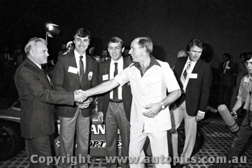 84424 - P. Brock,  L. Perkins, B. Jane & M. Stahl -  Porsche 956 - Taken in Sydney before leaving for Le Mans 1984 - Photographer Lance J Ruting