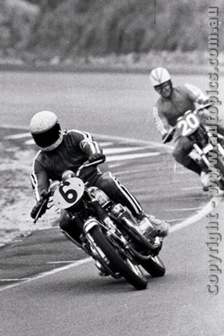 70306 - Craig Brown / Roger Jackson Honda CB750 - 2nd Place with 308 laps completed - Castrol Six Hour - Amaroo 18th October 1970 - Photographer Lance J Ruting