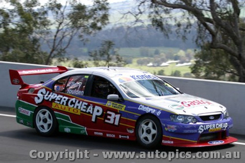 203710 - S. Ellery / L. Youlden - Ford Falcon BA - Bathurst  2003 - Photographer Jeremy Braithwaite