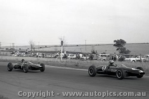 64540 - Leo Geoghegan Lotus 27 / Ian  Pete  Geoghegan Lotus 22 - Calder 5th May 1964 - Photographer Richard Austin