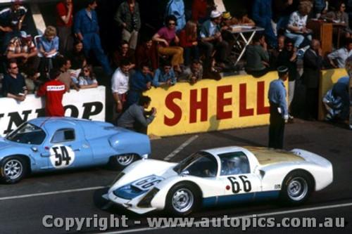 67308 - C. Poirot / G. Koch Porsche 906K - Le Mans 24 Hour 1967 - Photographer Adrien Schagen