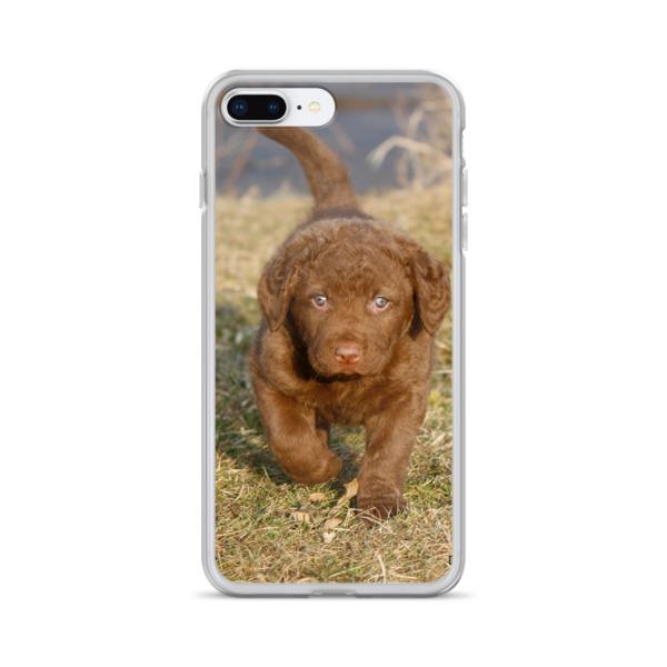 """Here I Come"" Chesapeake Bay Retriever Puppy iPhone Case"