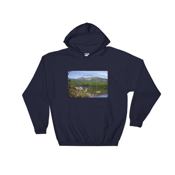 """""""Serenity"""" Mt. Kahtadin Hooded Moose Sweatshirt - Baxter State Park, Maine"""