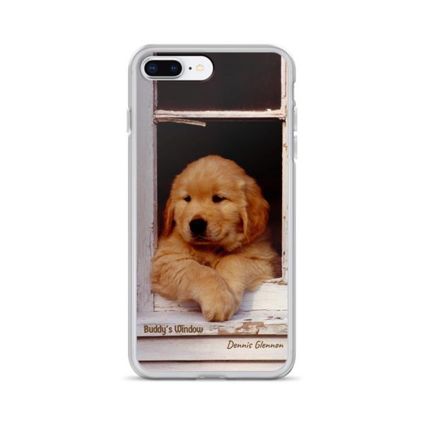 """Buddy's Window"" iPhone Case ""The"" Original Golden Retriever Puppy - Authentic Dennis Glennon"