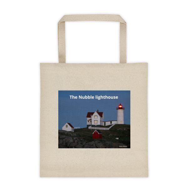 """Classic Nubble Lighthouse"" Since 1879 Roomy Square Bottom Tote - Cape Neddick, York, Maine"