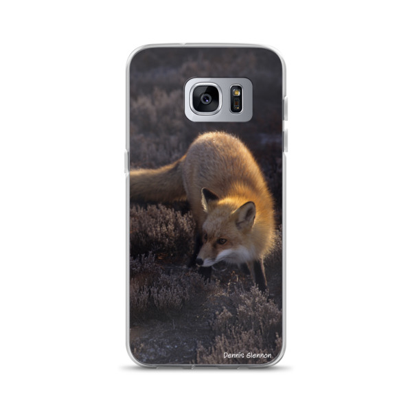 """Foxy Sunset"" Red Fox Samsung Phone Case - Island Beach State Park, New Jersey"