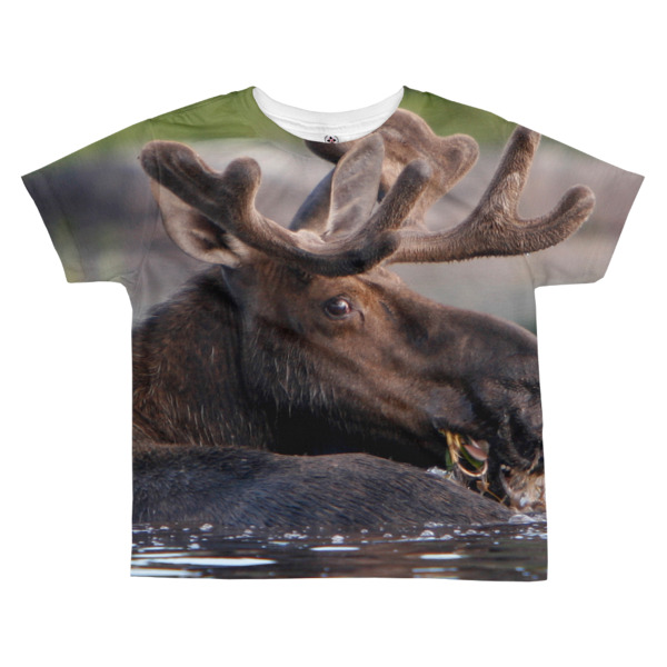 """I see You"" Bull Moose Kid's All-Over T-Shirt - Dennis' Secret Pond, Maine"