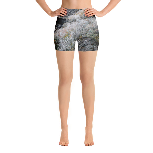 Yoga Shorts  First frost Smugglers notch End of Fall