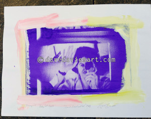 """DAVE REFLECTION 1965"" - purple/blue silkscreen  Monoprint 3"