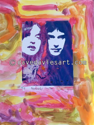 """BROTHERS"" - HAND PAINTED BLUE/PURPLE GICLEE PRINT -  No. 3 of 9"