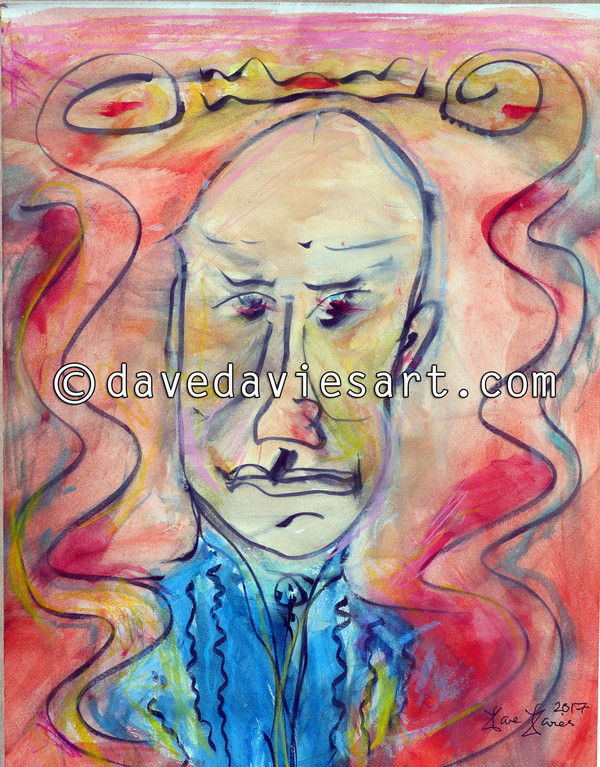 """JOE PASS"" - ORIGINAL DAVE DAVIES PAINTING"