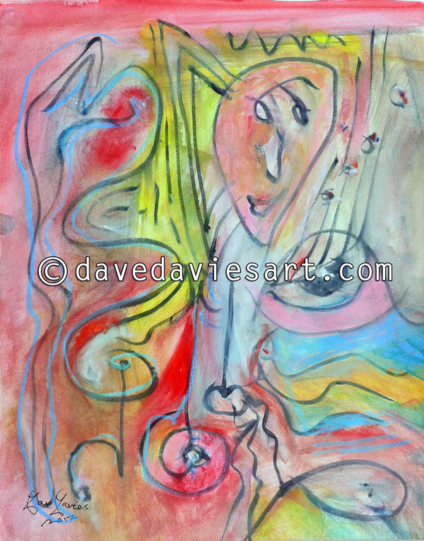"""JAZZ"" - ORIGINAL DAVE DAVIES PAINTING"