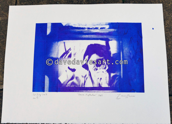 """DAVE REFLECTION 1965"" - purple/blue silkscreen  No.5 of 23"
