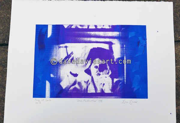 """DAVE REFLECTION 1965"" - purple/blue silkscreen  No.15 of 23"