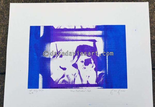 """DAVE REFLECTION 1965"" - purple/blue silkscreen  No.16 of 23"