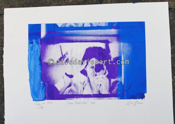 """DAVE REFLECTION 1965"" - purple/blue silkscreen  No.12 of 23"