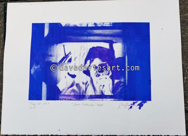 """DAVE REFLECTION 1965"" - purple/blue silkscreen  No.3 of 23"