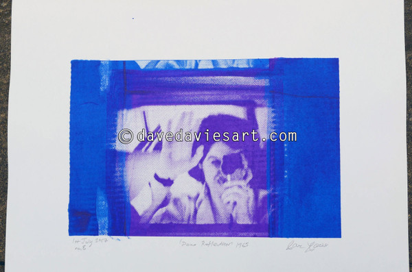 """DAVE REFLECTION 1965"" - purple/blue silkscreen  No.8 of 23"