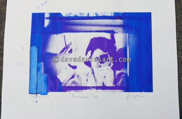 """DAVE REFLECTION 1965"" - purple/blue silkscreen  No.11 of 23"