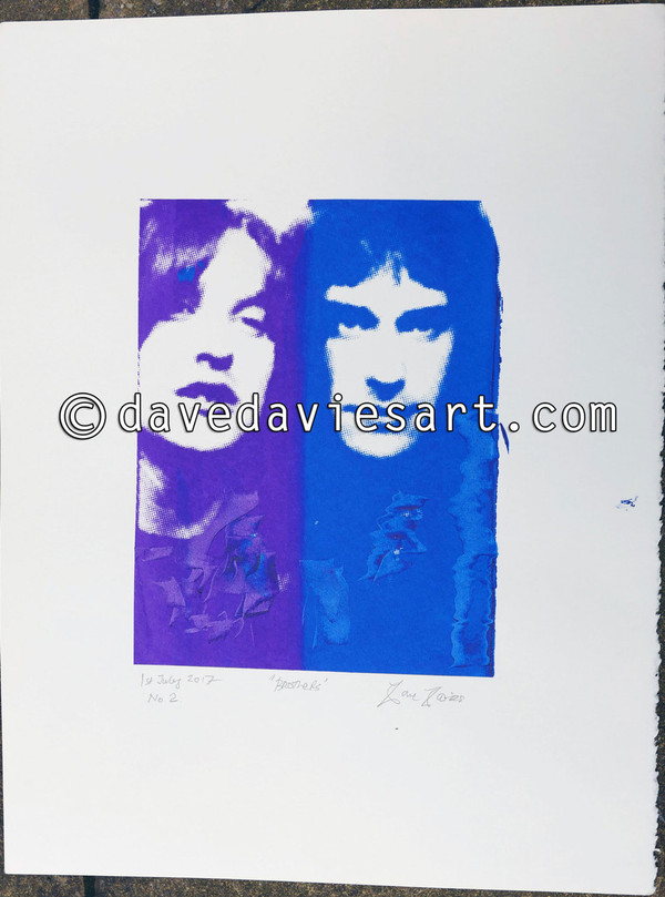 """BROTHERS"" - purple/blue silkscreen No.2 of 30 - SOLD !!"