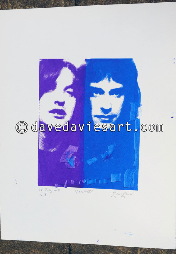 """BROTHERS"" - purple/blue silkscreen  No.3 of 30"