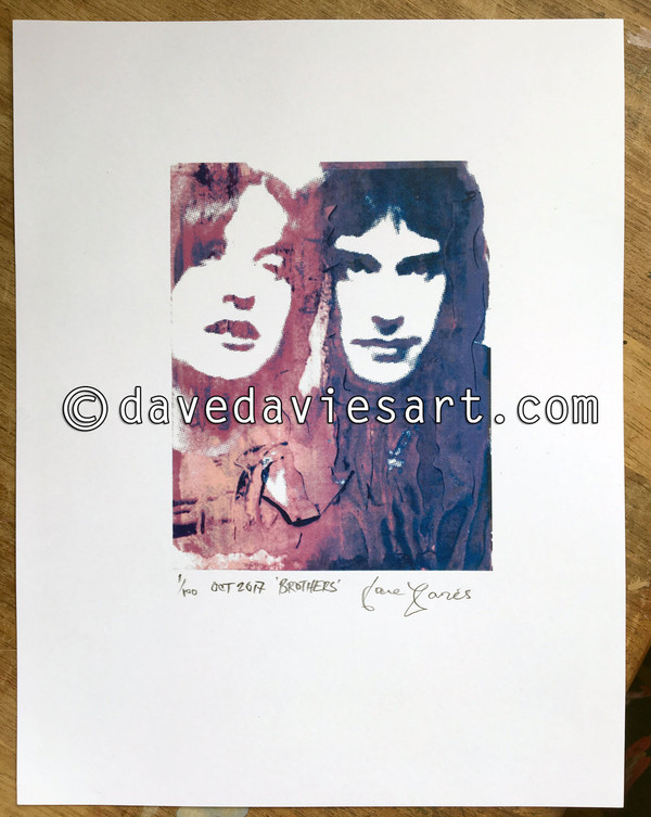 """BROTHERS"" - BLUE/PURPLE GICLEE PRINT - NO.1  of 100 - SOLD!!"