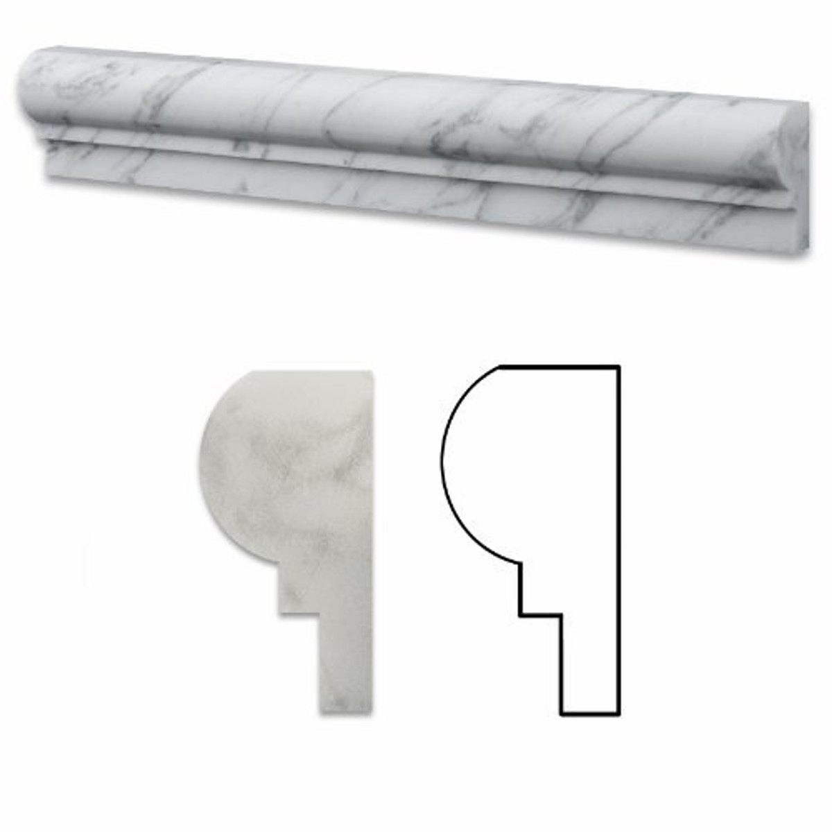 Carrara Marble Trim Pieces