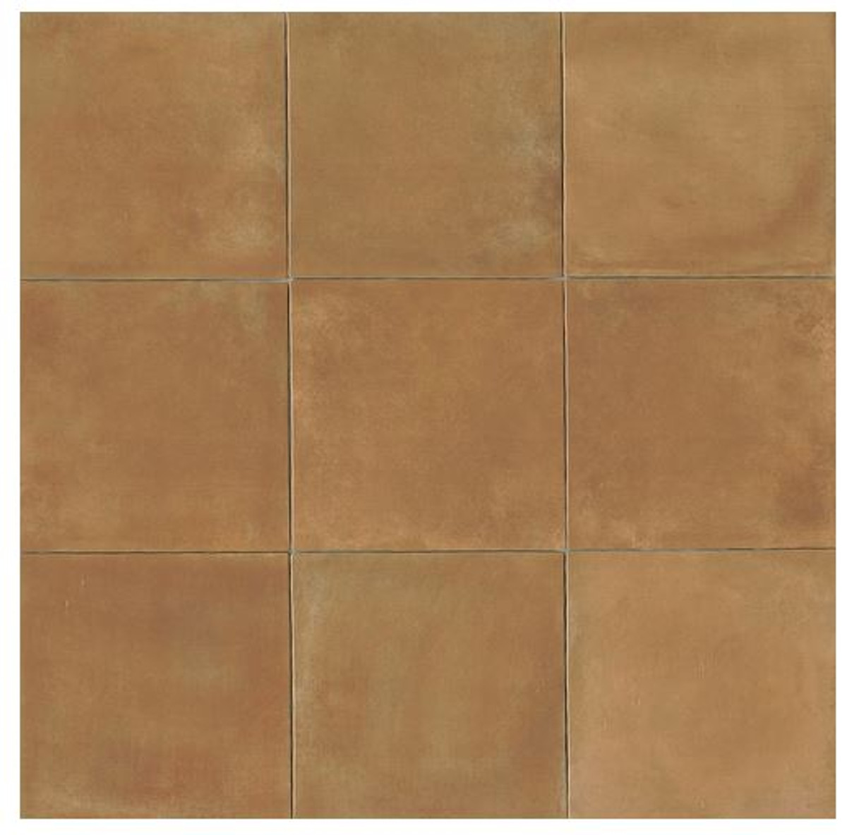 Terra Cotta Porcelain Tile 14x14 Gloss Finish Cotto Field Tile Siena ( Caramel )