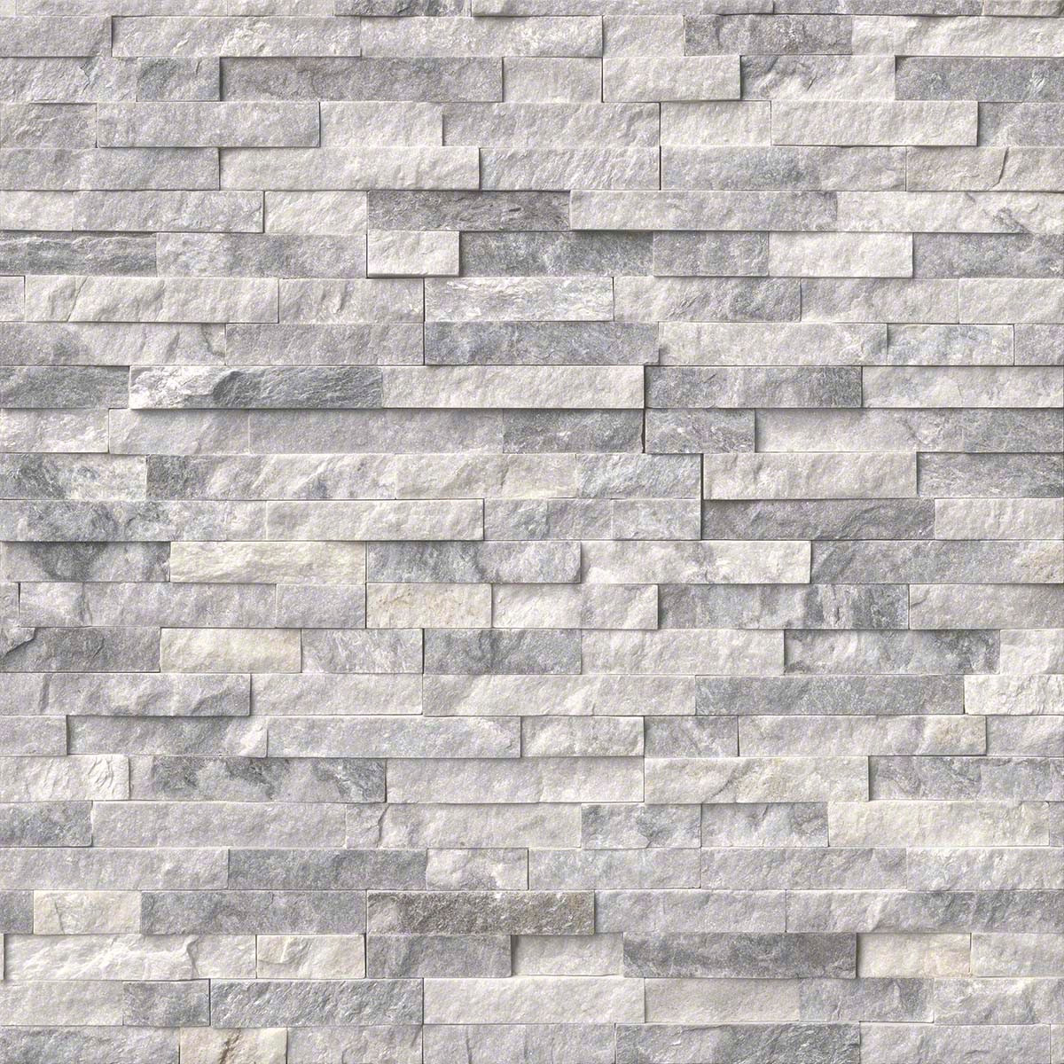 Crystal Graystone Splitface Ledgerstone Panels 6x24