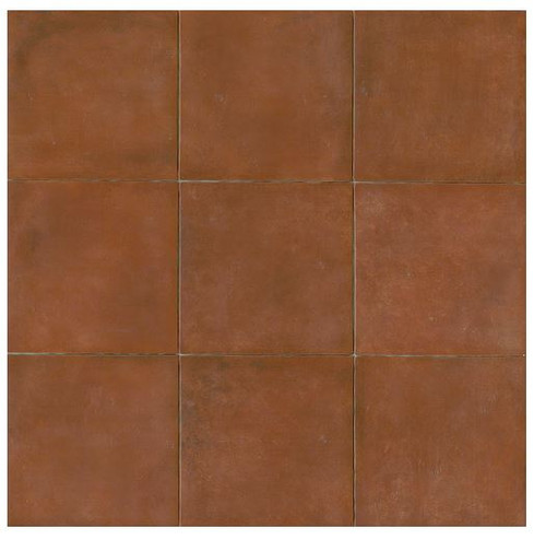 Terra Cotta Porcelain Tile 14x14 Matte Finish Cotto Field Tile Sicilia ( Red )